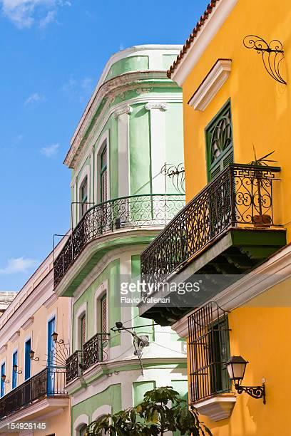 Farbenfrohen Gebäuden, La Habana, Kuba