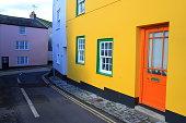 Colorful buildings in Lyme Regis, Dorset
