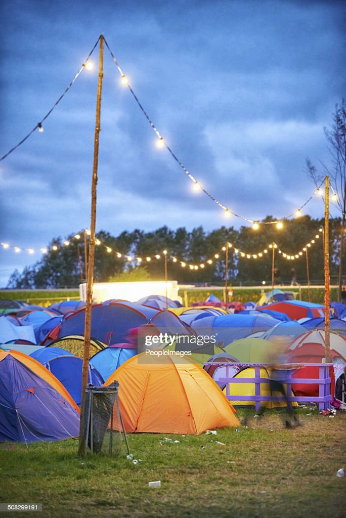 Colorful camp : Stock Photo