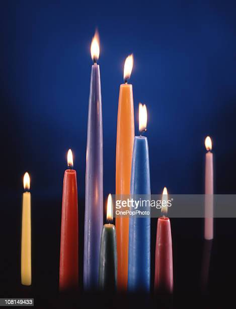 Colorful Candle Assortment