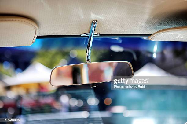 colorful Car mirror in summer