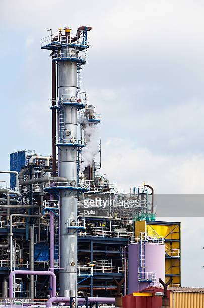Colorful chemical plant