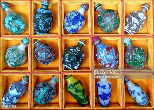 Colorful Chinese snuff bottles