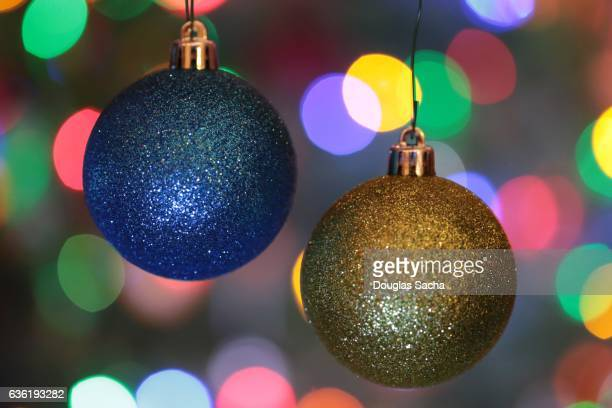 Colorful Christmas Ornament and lights