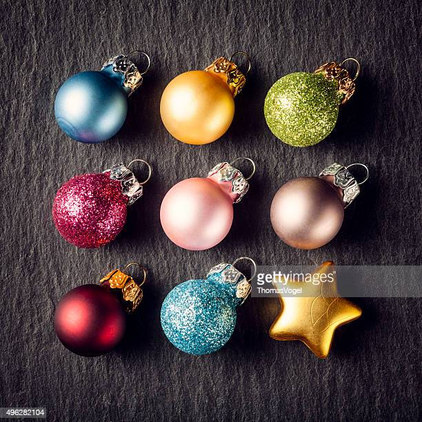 Colorful Christmas Square - Star Decoration Ornament Slate
