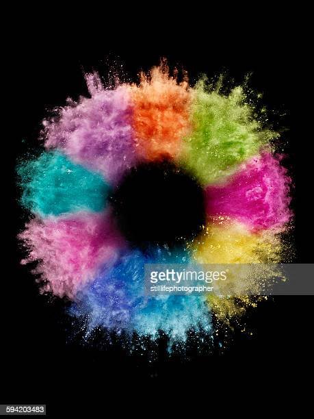 Colorful Circle Powder Explosion