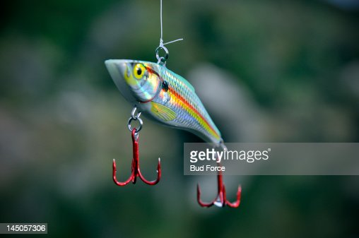 Colorful close-up of a fishing lure.