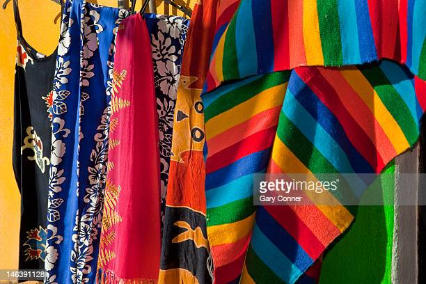 Colorful clothes for sale