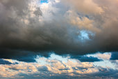 Colorful clouds in the sky, storm sky