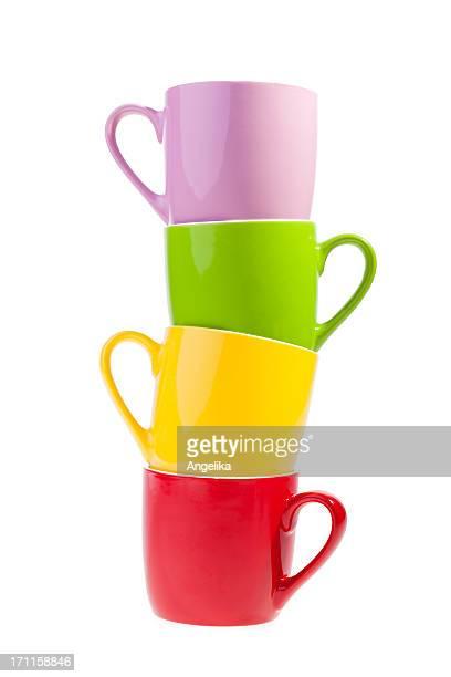 Bunte Kaffee Tassen