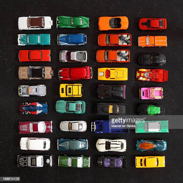 Colorful collection of miniature toy cars
