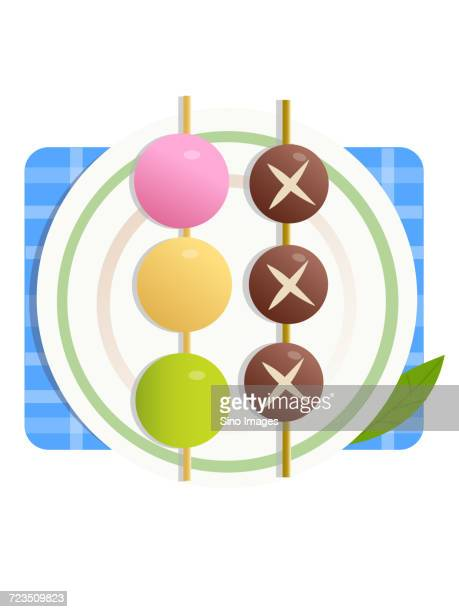 Colorful comic design of sweets on stick on plate