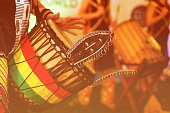 Colorful conga drum for party at camp