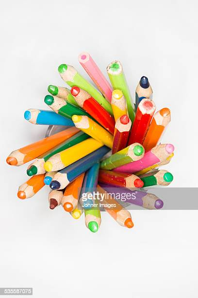 Colorful crayons studio shot