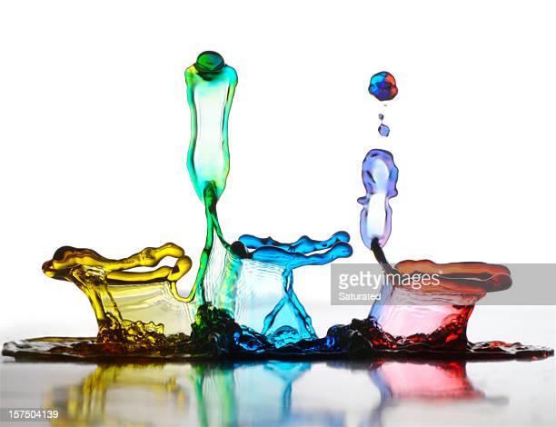 Danse colorée gouttes d'eau