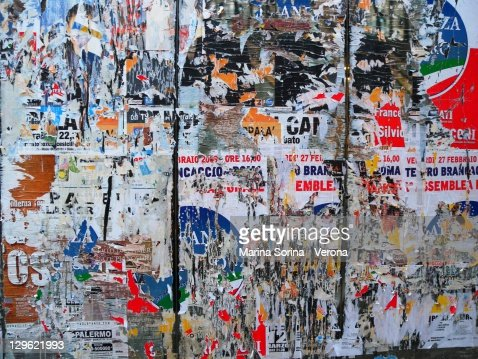 Colorful decaying wall in Palermo, Sicily : Stock Photo