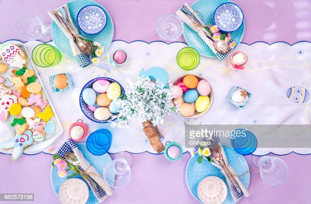 Colorful Decorated Easter Place Setting