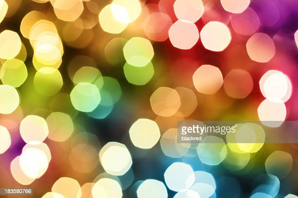 Lumières colorées Sans mise au point