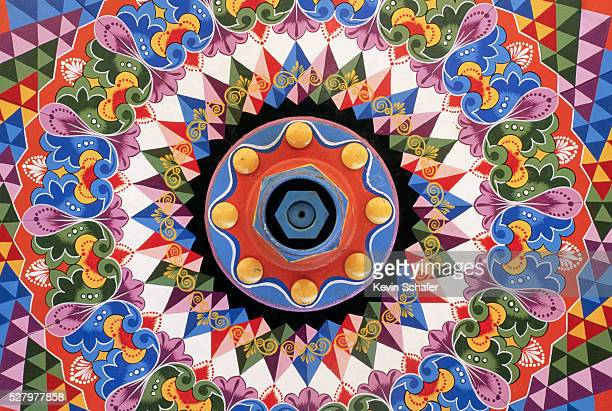 Colorful Design Painted on Ox Cart