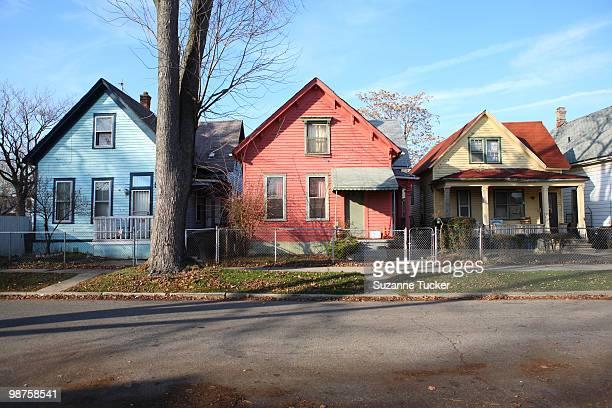 Colorful Detroit Houses