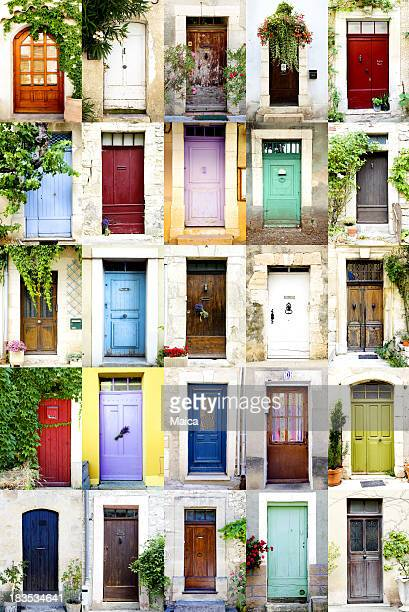 Colorful doors, vertical