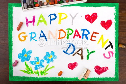 Colorful drawing grandparents day card stock photo thinkstock colorful drawing grandparents day card stock photo m4hsunfo