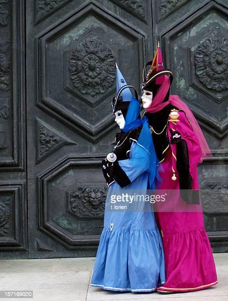 Bunte Duo; Karneval in Venedig.