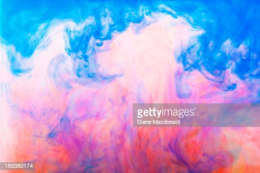 Colorful dyes in water