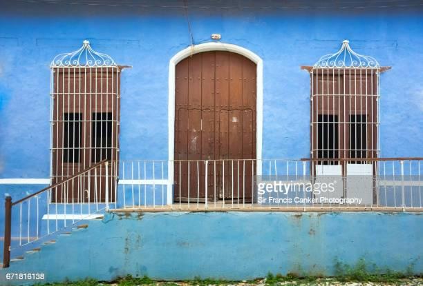 Colorful facade In Trinidad, Cuba, a UNESCO heritage site