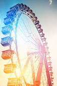 Colorful Ferris Wheel Background at the Oktoberfest in Munich