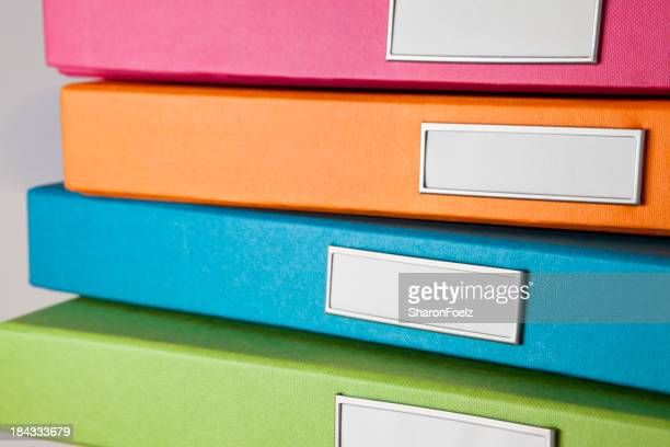 Colorful File Boxes