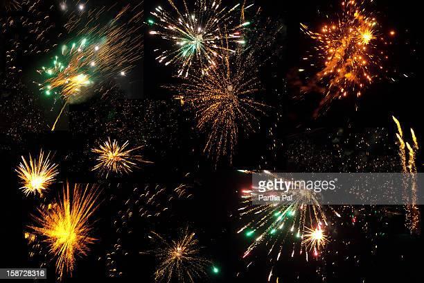 Colorful Fireworks for Kalipuja/Diwali Festival