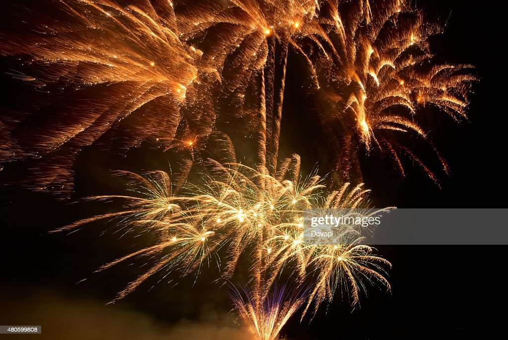 Colorful fireworks : Stock Photo