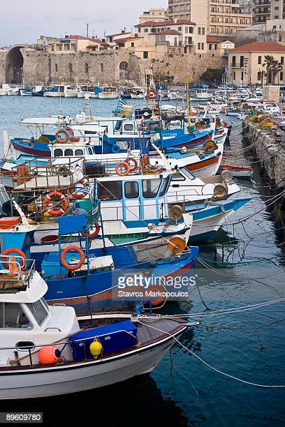 Colorful fishing boats