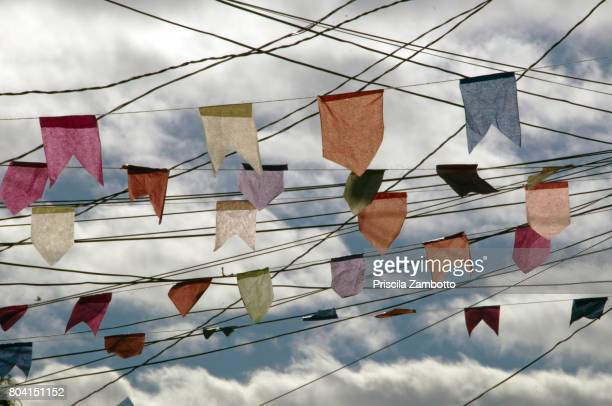 Colorful Flags Hanging