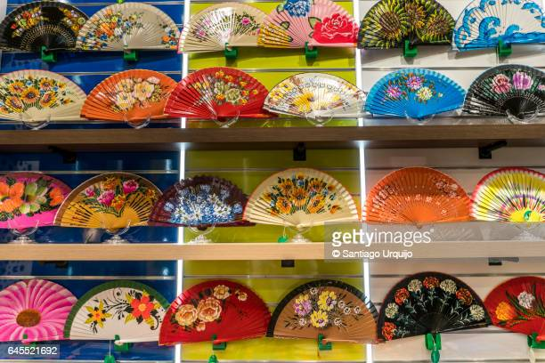 Colorful Flamenco fans