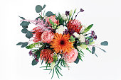 Bright, cheerful, colorful bouquet of flowers