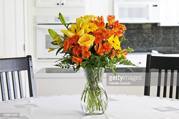 Colorful flowers on table