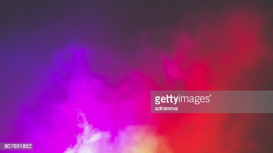 Colorful fog : Stock Photo