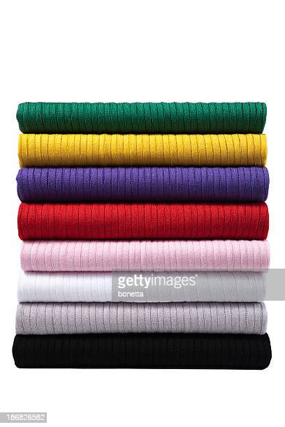 colorful folded clothes