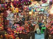 Souvenir shop in weekend market Thailand