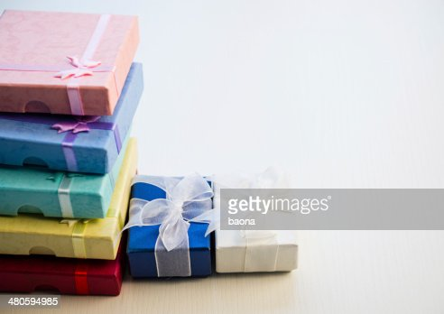 Colorful gift boxes : Stock Photo