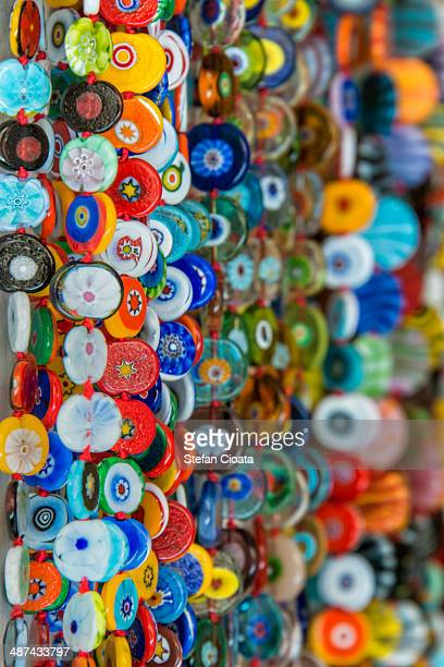 Colorful glass souvenirs