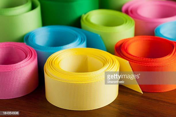 Colorful grosgrain ribbon
