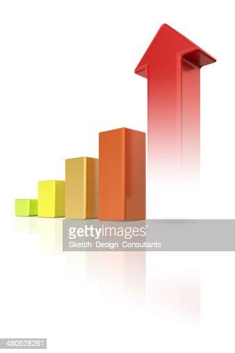 カラフルな成長チャート : ストックフォト