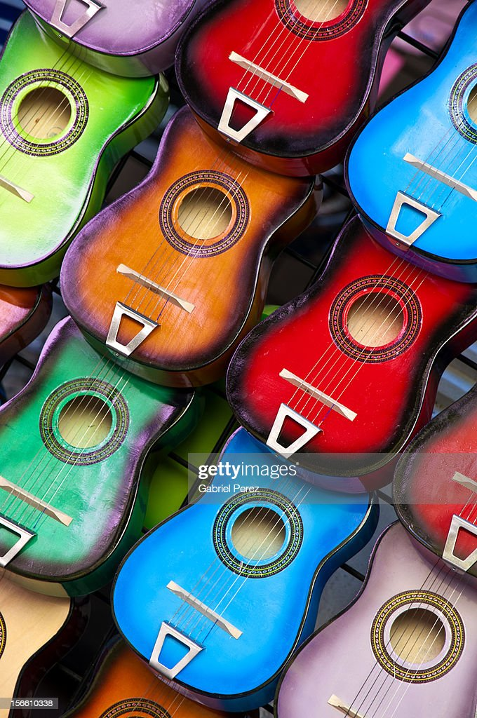 Colorful Guitars : Stock Photo