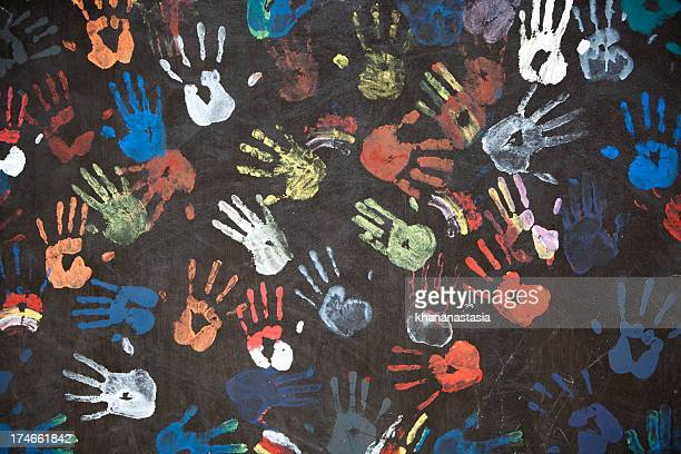 handprints coloré
