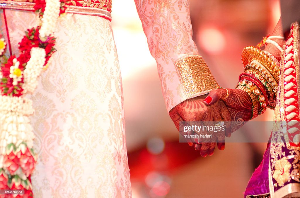 Colorful Hindu wedding in India : Stock Photo