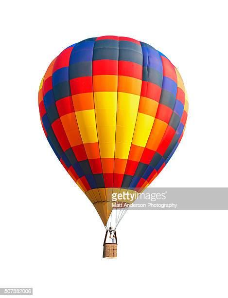 Colorful Hot Air Balloon on White