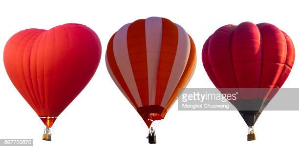 Colorful hot air balloons Isolated on white background.